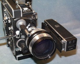 Anamorphic Lens with Octameter attached to Camera