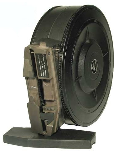 The 400ft Coaxial Magazine showing  Connector plate