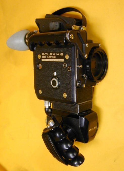 View of H16 EBM camera and power handgrip but no lens