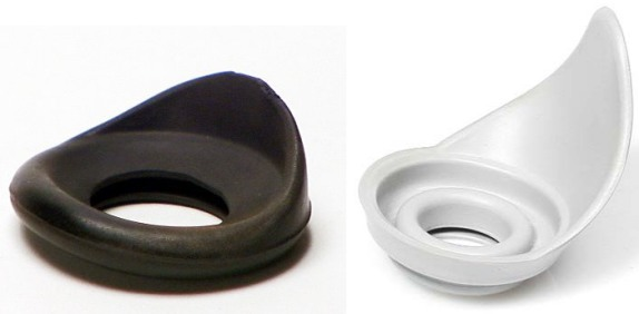 1st and 2nd type of rubber eye cups