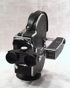 Bolex Stereo lens attached to Turret H16 Camera