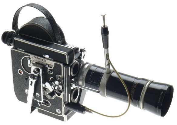 Vario Switar 86 Lens attached to Bolex Rex 3