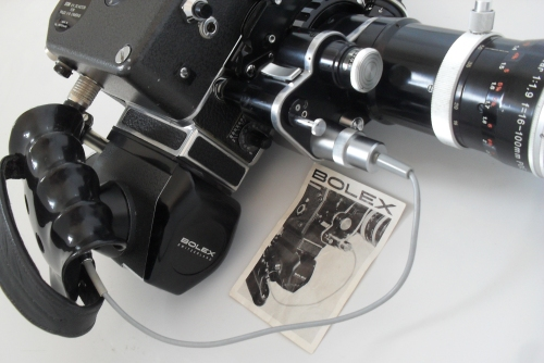 Power Handgrip, ESM motor and POE4 lens attached to camera with CAVAR Cable attached